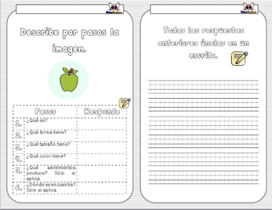 fichas ejercicios composición para primaria