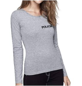 Aircops Camiseta Policia Manga Larga Mujer