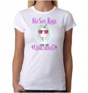 Camiseta Unicornio. No Soy RARA