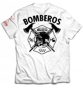 Camiseta de Bombero Blanca unisex