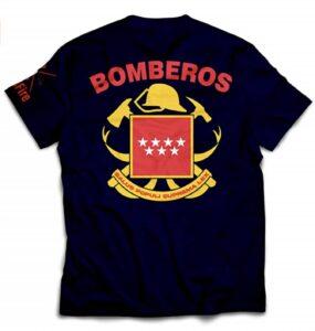 Camiseta de Bombero de Madrid con Escudo Oficial
