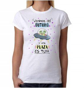 MardeTé Camiseta Mujer opositora. Venimos del Futuro y una Plaza es Tuya.