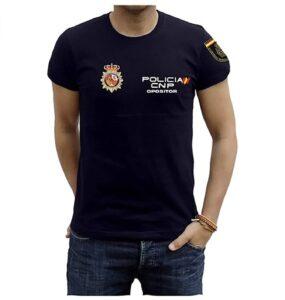 Piel Cabrera Camiseta Policia Nacional Opositor
