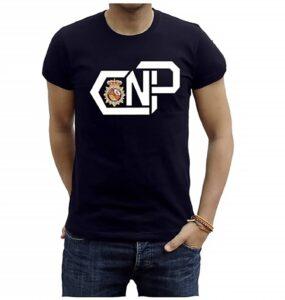 Piel Cabrera Camiseta policia Nacional