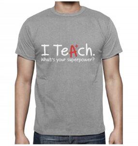 camiseta para profesores unisex